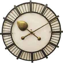 Large Factory or Workshop Wall Clock Attributed to Siemens