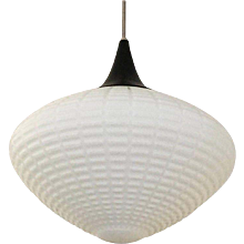 Large Opaline Glass Pendant from the 1950s