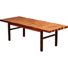 Bramin Mid-Century Patchwork Rosewood Coffee Table