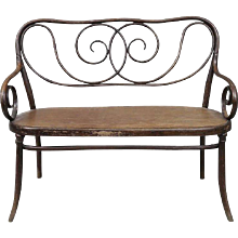 Extremely Rare Bentwood Settee by August Thonet