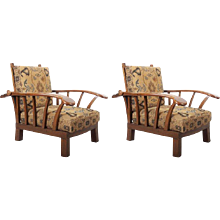Pair of Austrian Early Art Deco Armchairs
