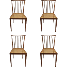 Set of Four Dining Chairs by Hagenauer Wien