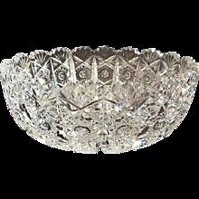 Bohemin Cut Crystal Centrepiece Bowl