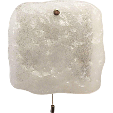 "J.T. Kalmar ""Stein"" Foam Glass Sconce, Wall Light"
