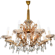 20th Century Maria Theresia Style Cut Crystal Chandelier
