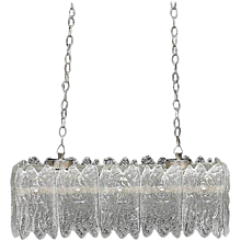 Crystal Glass Chandelier by Carl Fagerlund for Orrefors