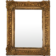 Early 20th Century Baroque Style, Century Style Giltwood Carved Mirror
