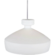 Large Opaline Glass Pendant Light