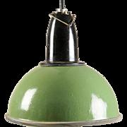 Green Soviet Factory, Industrial Pendant Lamp