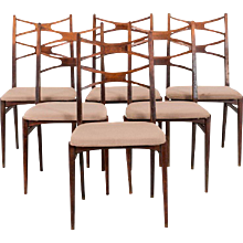 Set of Six Dinning Chairs from the 1960s