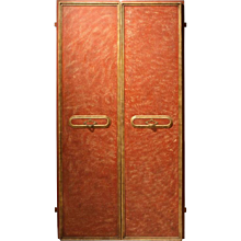Pair of Italian Lacquered Wood Doors
