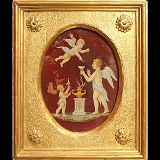 19th Century Italian Painting on Glass