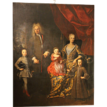 The Zanardi - Landi' s Family Portrait signed Lucia Casalini Torelli