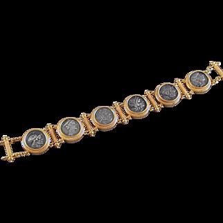 Victorian Gold & Roman Coin Bracelet