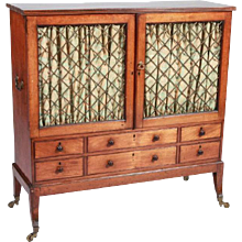Regency Mahogany Dwarf Bookcase Cabinet 19th century