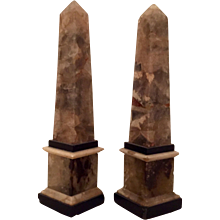 Pair English Regency Derbyshire Blue John Obelisks 1810 - 1820