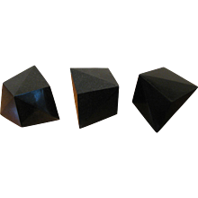 Tripartite Sculpture in Black Granite by Höweler