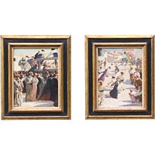 A pair of paintings by Guillonnet