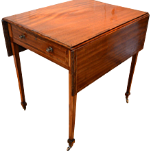 Pembroke Table with Fluted Inlays