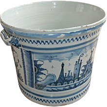 Huge Delftware Pot, 18th Century