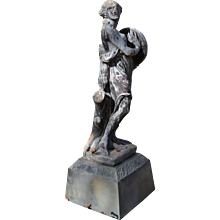18th or 19th Century French Lead Figure of a Bacchante