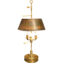 19th Century French Bronze Bouillotte Lamp