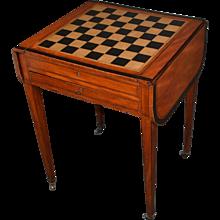 Late 18th Century Inlaid Satinwood George III Hidden- Games Table