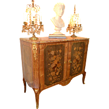 French Louis XV to Louis XVI Transitional Cabinet, 18th Century