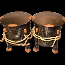 Japanese Wooden  Jabaka Helmet Cases