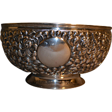 Chinese Export Silver Punch Bowl