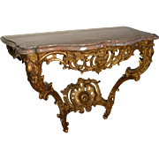 Louis XV Gilt Console
