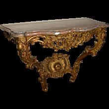 Louis XV Gilt Console