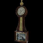 Federal Mahogany Banjo Clock, Circa 1830