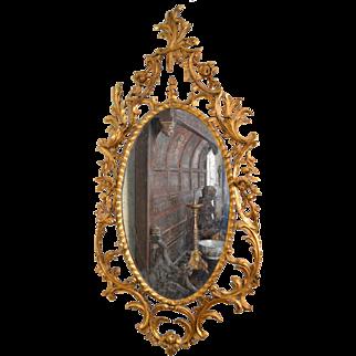Pair of rococo pier mirrors. English circa 1765