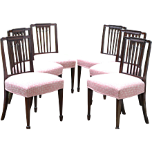 Set of Six George III Side Chairs, Ca. 1785