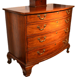 American Chippendale Bowfront Chest, Ca, 1760