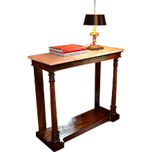 Rosewood English Marble Topped Console Table,  Ca.1840