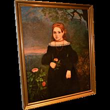 American Portrait of a Girl, Circa 1830's