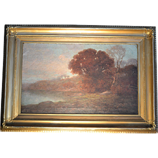 Barbizon school landscape, 19th century