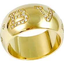 Bulgari Monologo Diamond 18K Yellow Gold Band