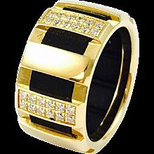 Chaumet Class One 18K Yellow Gold Diamond Ring
