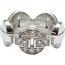 Cartier Himalia 18K White Gold Diamond Band Ring