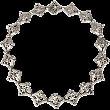 Doris Panos Diamond and 18K WHite Gold Necklace