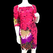 Brand New Roberto Cavalli Wild Berry Print Dress Size 46