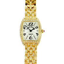 Franck Muller Cintree Curvex Yellow Gold Diamond Watch 2251 QZ D