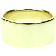 Vintage Tiffany & Co. Wide 14K Yellow Gold Band Ring