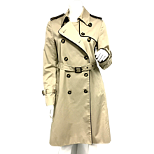 RED Valentino Khaki Trench Coat with Bow and Lace Detail NWOT Size 6