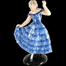 Dancing Lady in blue dress