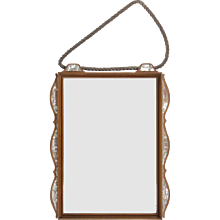 Secessionist Wall Mirror with Mother-of-pearl Inlays, circa 1920s