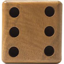 Mint Auböck Penholder in the Shape of a Die Made of Beech Wood